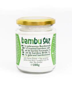 Packaging 1x roasted very fine bamboo salt (200gr)