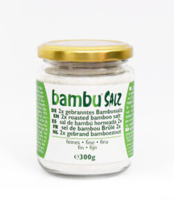Package 2x roasted fine bamboo salt (300gr)